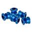 NC-17 Kettenblattschraube 4 und 5 Loch blau
